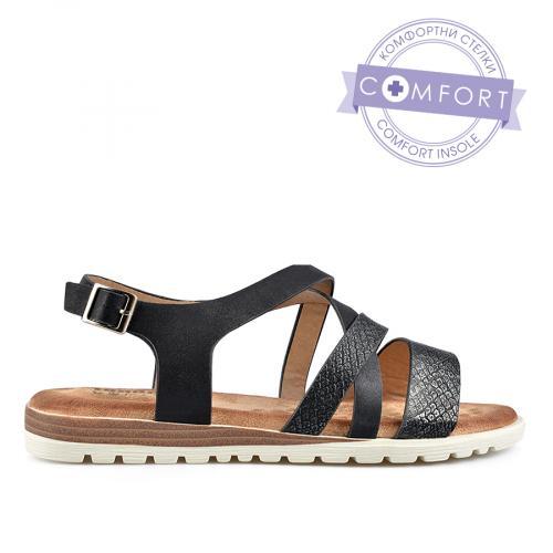 дамски ежедневни сандали черни 0137329