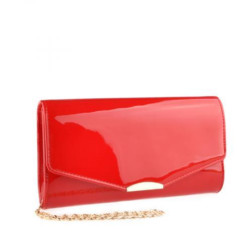 дамска елегантна чанта червена 0140900