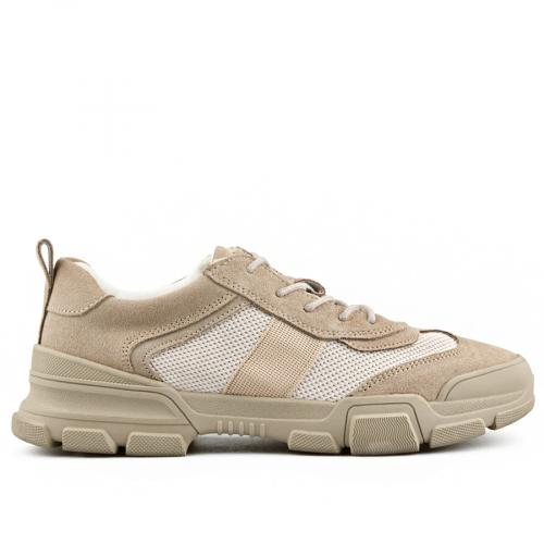 мъжки ежедневни обувки бежови 0140758