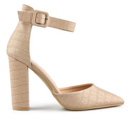 дамски елегантни сандали бежови 0140459