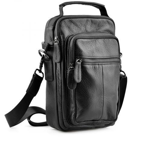 мъжка ежедневна чанта черна 0138049