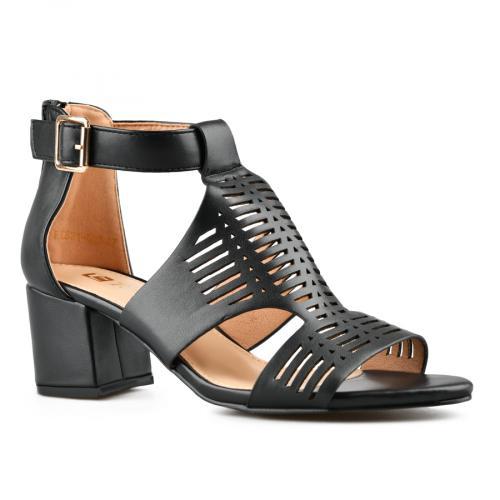 дамски елегантни сандали черни 0143267