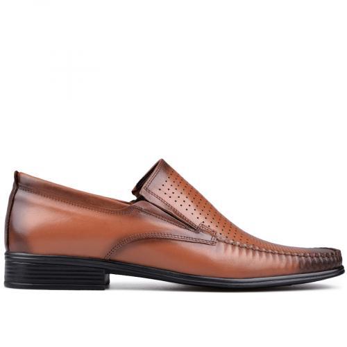 мъжки елегантни обувки кафяви 0131219