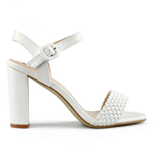 дамски елегантни сандали бели 0144365