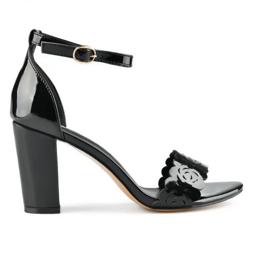 дамски елегантни сандали черни 0143258