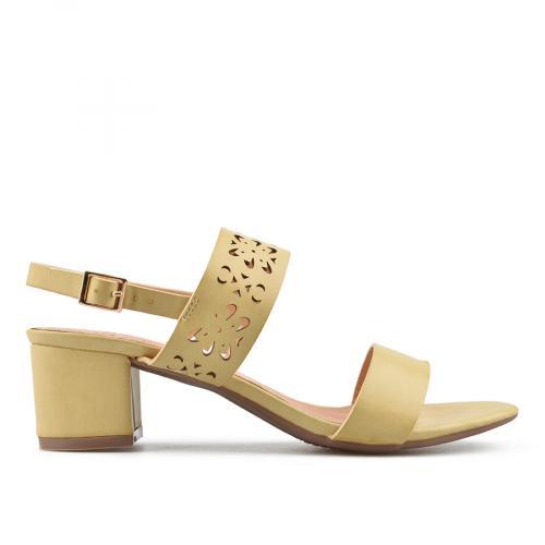 дамски елегантни сандали бежови 0137643