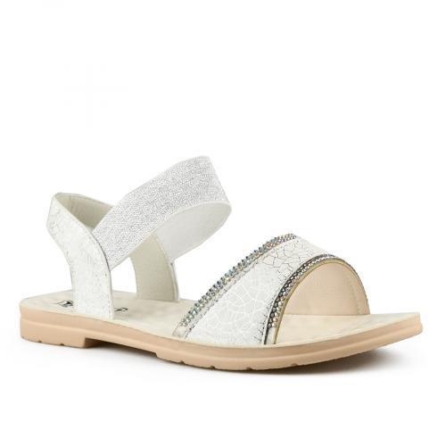 дамски ежедневни сандали бели 0143390