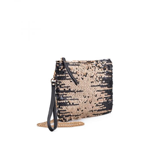 дамска елегантна чанта златиста 0134325