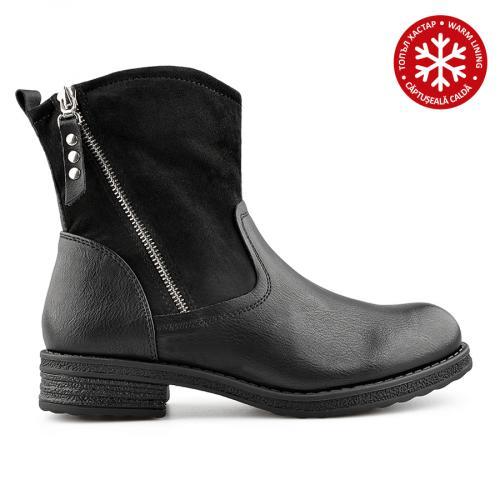 дамски ежедневни боти черни с топъл хастар 0138849
