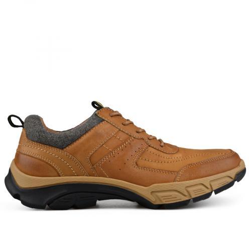 мъжки ежедневни обувки кафяви 0135796