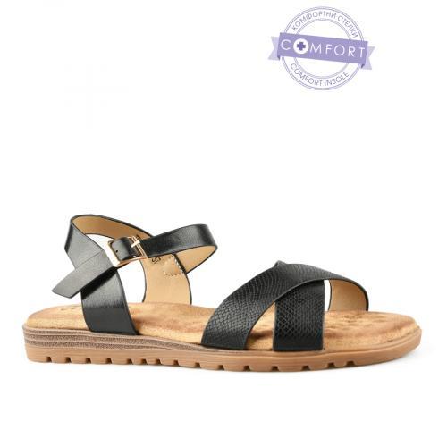 дамски ежедневни сандали черни 0142829