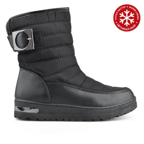 дамски ежедневни  боти черни с топъл хастар 0136025