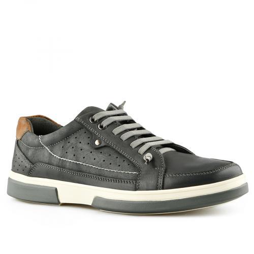 мъжки ежедневни обувки  тъмно сиви 0140735