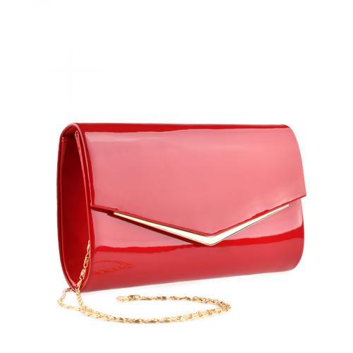 дамска елегантна чанта червена 0139869
