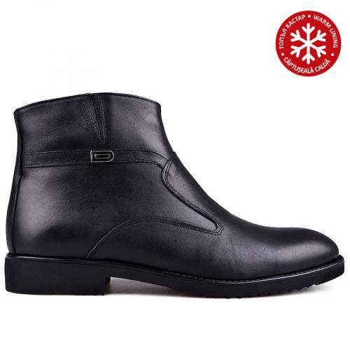 мъжки елегантни боти с топъл хастар черни 0133627