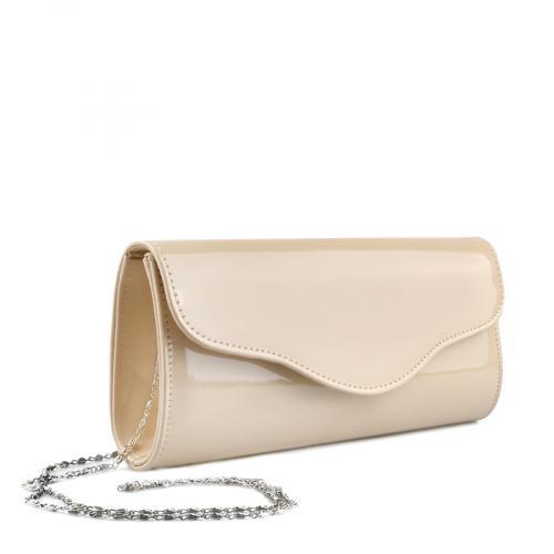 дамска елегантна чанта бежова 0140893