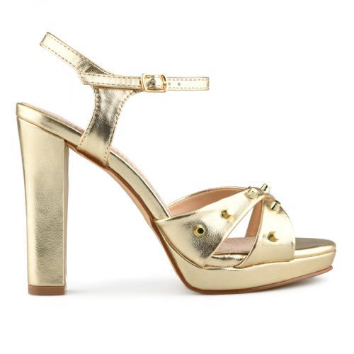 дамски елегантни сандали златисти 0140062