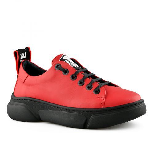 дамски ежедневни обувки червени 0141169