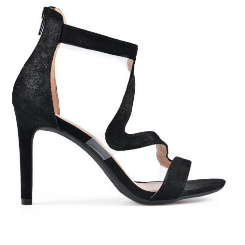 дамски елегантни сандали черни 0137653