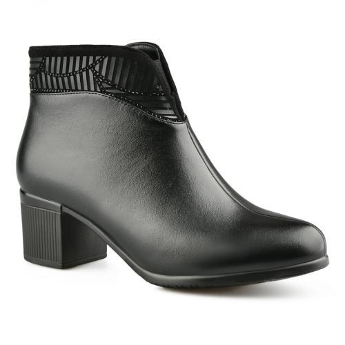дамски елегантни боти черни 0141941
