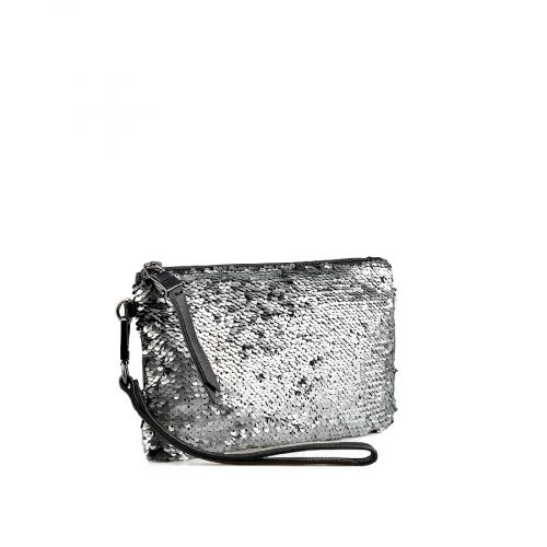 дамска елегантна чанта сребриста 0138665
