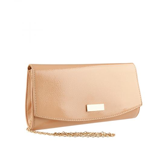 дамска елегантна чанта бежова 0140911