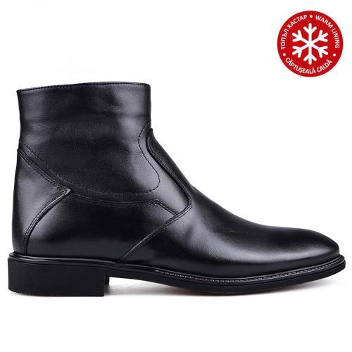 мъжки елегантни боти с топъл хастар черни 0133624