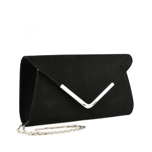 дамска елегантна чанта черна 0140903