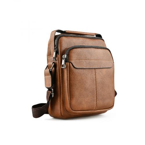 мъжка ежедневна чанта кафява 0141591