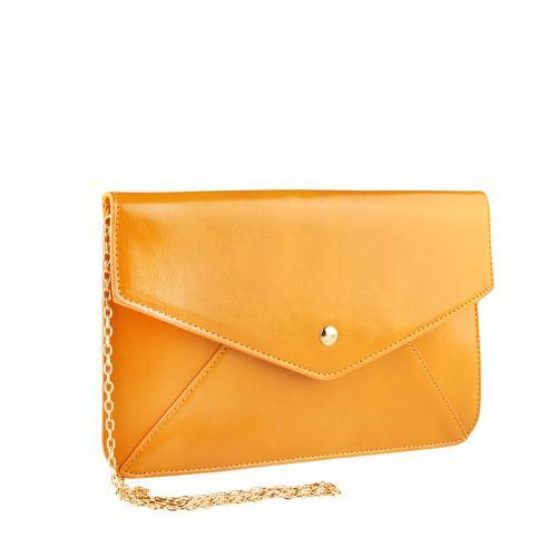 дамска елегантна чанта жълта 0140914