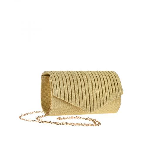дамска елегантна чанта златиста 0143783