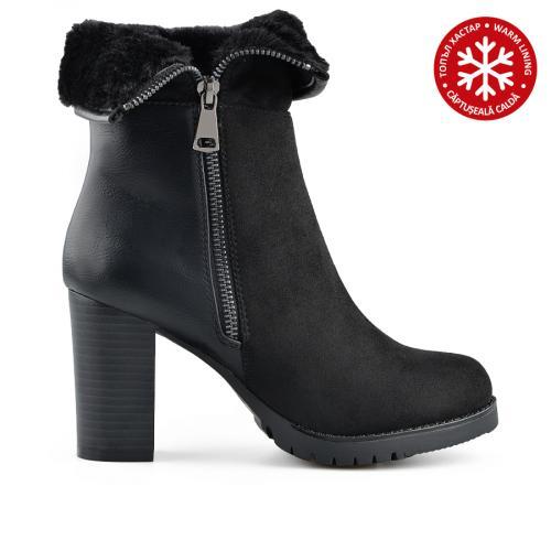дамски ежедневни боти черни с топъл хастар 0139115