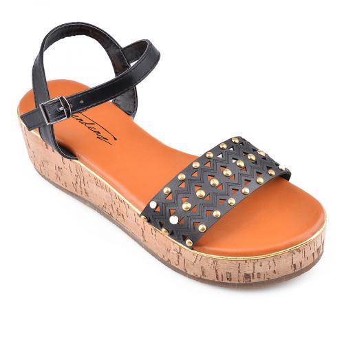 дамски ежедневни сандали черни 0134558
