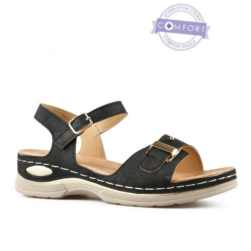 дамски ежедневни сандали черни 0143293