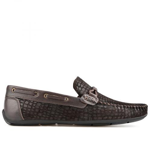 мъжки ежедневни обувки тъмно кафяви 0138275