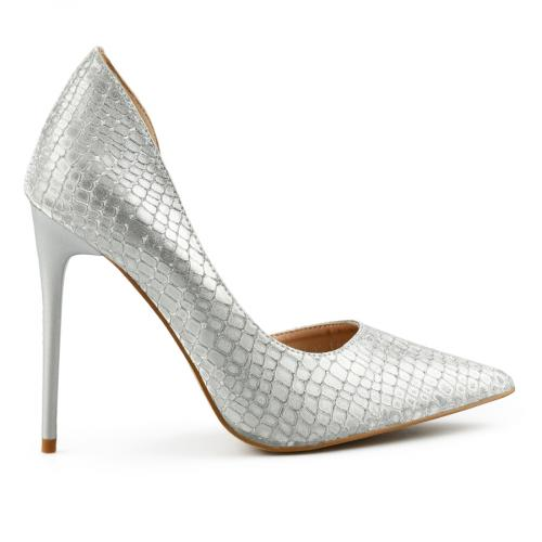 дамски елегантни обувки сребристи 0140467