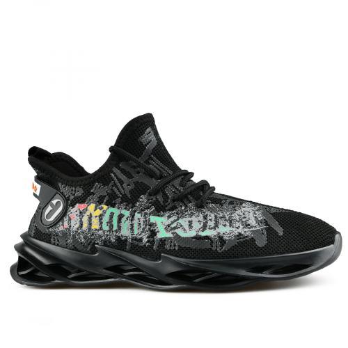 мъжки ежедневни обувки черни 0142808