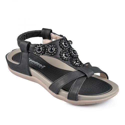 дамски ежедневни сандали черни 0137313