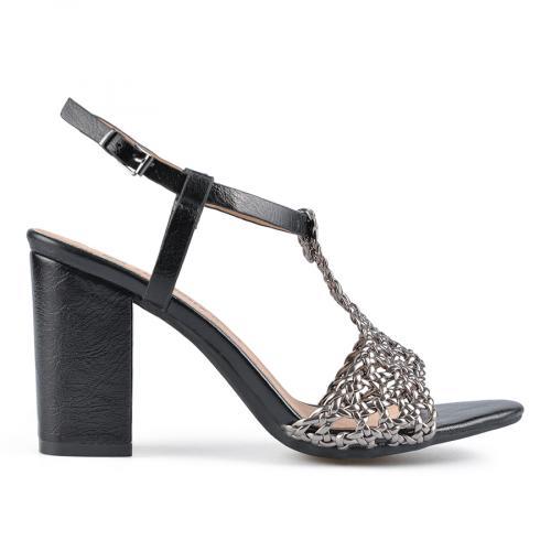 дамски елегантни сандали черни 0137648