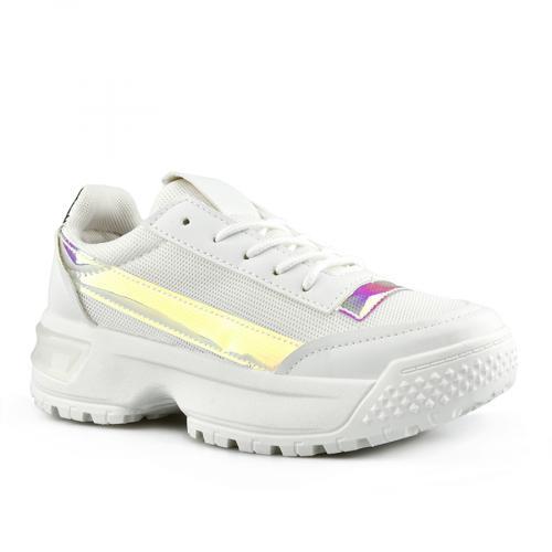 дамски маратонки бели с платформа 0142789