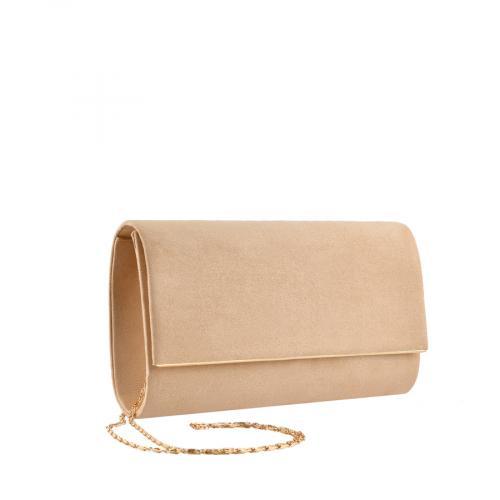 дамска елегантна чанта бежова 0139855