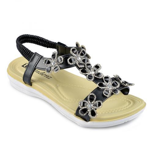 дамски ежедневни сандали черни 0138350