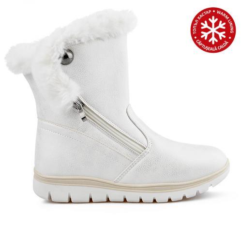 дамски ежедневни  боти бели с топъл хастар 0136051