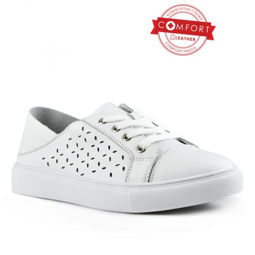 дамски ежедневни обувки бели 0142513