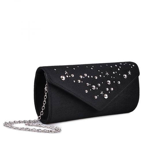 дамска  елегантна чанта черна 0134392