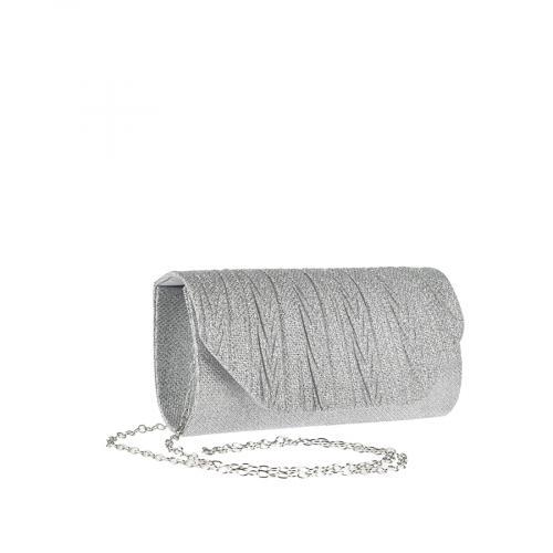 дамска елегантна чанта сребриста 0143810