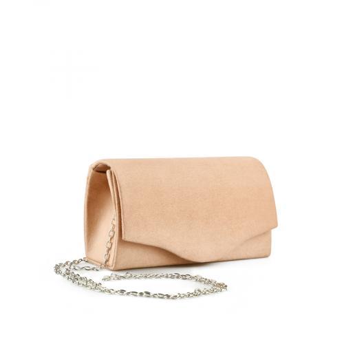 дамска елегантна чанта бежова 0143761