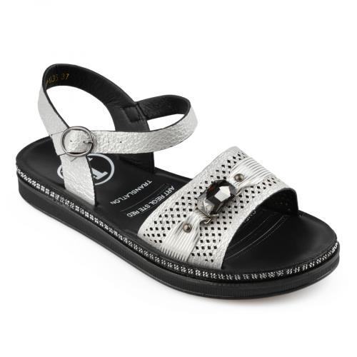 дамски ежедневни сандали бели 0137053