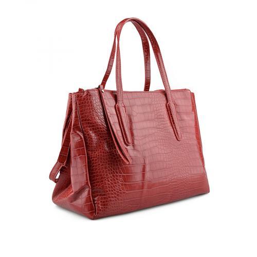дамска ежедневна чанта червена 0139184