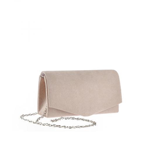 дамска елегантна чанта бежова 0143753